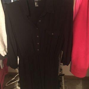 Black button dress